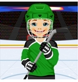 young hockey player in uniform vector image vector image