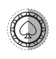 gambling chip icon thin line vector image