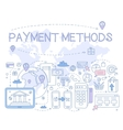 Payment Methods Infographics vector image