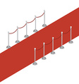 isometric red carpet vector image