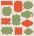 Set of Christmas Vintage Labels Frames Collection vector image