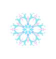 Snowflake Isolated Merry Christmas vector image