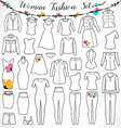 Woman Fashion Set vector image