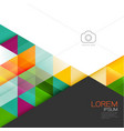 abstract colorful geometric layout template and vector image vector image