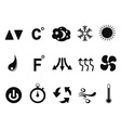 Air conditioner icons set vector image