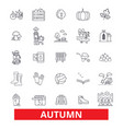 autumn fall foliage season cold weather vector image