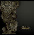 beautiful islamic background with mandala vector image vector image
