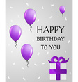 birthday card with balloons vector image vector image