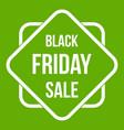 black friday sale sticker icon green vector image vector image