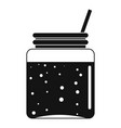 blackberry smoothie icon simple style vector image