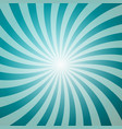 blue retro background with star shape sun burst vector image
