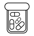 bottle drug icon outline style vector image vector image