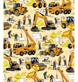 Building people and construction equipment color vector image vector image