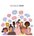 business team sharing ideaschatting teamwork vector image