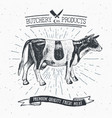 butcher shop vintage emblem beef meat products vector image
