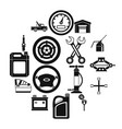 car maintenance and repair icons set simple style vector image