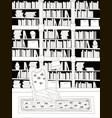 cartoon flat interior library room coloring vector image vector image
