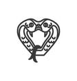 cobra icon vector image vector image