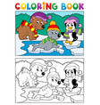 coloring book winter topic 5 vector image