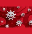coronavirus covid19-19 with symbol danger sign vector image vector image