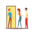 couple come to friends home friends having a good vector image vector image