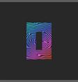 creative letter o logo capital initial or zero vector image vector image