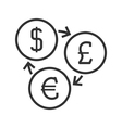Currency exchange line icon vector image vector image