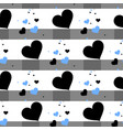 cute seamless pattern with hearts and horizontal vector image