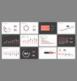 dashboard ui and ux kit with big data vector image vector image