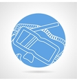 Diving mask line icon vector image vector image