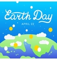Earth Day lettering calligraphy 22 april vector image vector image