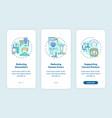 ergonomic design benefits onboarding mobile app vector image vector image