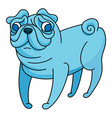 fantasy little pug vector image