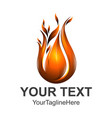fire logo template 3d logo template easy to edit vector image