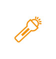 flashlight bulb energy electricity light yellow vector image