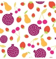 Fun Colorful Fruit Seamless Pattern vector image