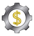 gear with with the money symbol vector image vector image