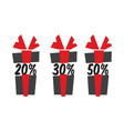 gift box sale icons vector image vector image