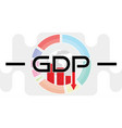 global gross domestic product fall down vector image vector image