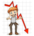 Graph showing a poor man vector image