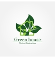 Green house logo Energy saving concept vector image vector image
