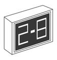 grey scoreboard icon vector image