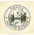 Grunge rubber stamp with Seoul South Korea vector image vector image