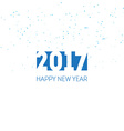 Happy new year 2017 Greeting card design template vector image