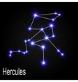 Hercules Constellation with Beautiful Bright Stars vector image vector image