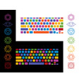 keyboard yoga chakra colorful vector image vector image