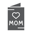 mothers day card glyph icon greeting and vector image