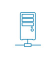 online server linear icon concept online server vector image vector image
