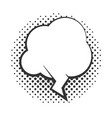 pop art speech bubble halftone style cloud linear vector image vector image