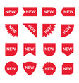 red new product sale tag and label collection vector image